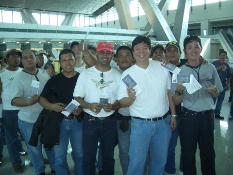 MCPF/PSF at NAIA Terminal 3. Members of the Philippines Scooter Federation